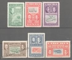 Liberia 1952 Yvert 309-14, Tribute To Jehudi Ashmun - MNH - Liberia