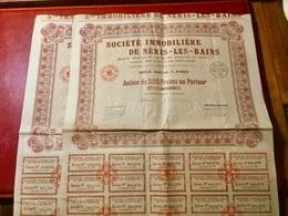 SOCIÉTÉ  IMMOBILIÈRE  De  NÉRIS-LES-BAINS -------Lot   De  2  Actions  De 500 Frs - Industrie