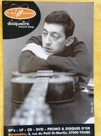 Cp Disquaire Baromètre A Tours - Photo De Serge Gainsbourg - Publicidad