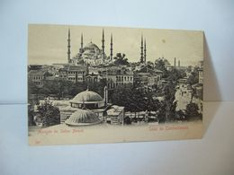 SALUT DE CONSTANTINOPLE TURQUIE AUJOURD'HUI ISTANBUL MOSQUEE DU SULTAN AHMED CPA 129 - Türkei