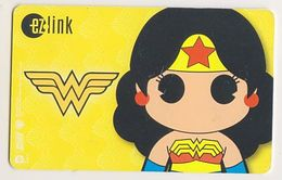 Singapore Travel Transport Card Subway Train Bus Ticket Ezlink Used Wonder Woman - Subway