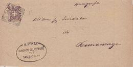 San Bassano (Cremona) Tondo-riquadrato Del 1900 - Storia Postale