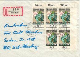 8672 Selb Grimmelshausen - R-Brief - Drachen Fabelwesen - Mit Zählallongen - Other