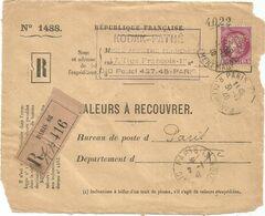 CERES 3FR PERFORE PERFIN KP KODAK PATHE DEVANT VALEURS A RECOUVRER PARIS 86 31.12.1940 - Frankreich