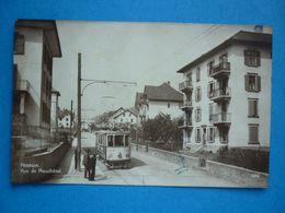 SUISSE  PESEUX RUE DE NEUCHATEL  TRAMWAY 1926 - FR Freiburg