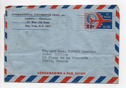 - Aérogramme CUMMINGTON (Massachusetts / USA) Pour PARIS (France) 9.8.1965 - - 1961-80
