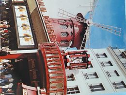 Carte Postale De La Nuit De Paris Le, Le Moulin Rouge - París La Noche