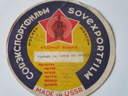 Etiquette De Film Soviétique Pour La Diffusion à L'Etranger - Werbetrailer