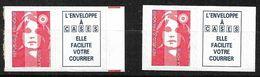 France Bandes N° 2807a  Repères De Couleur Rouge Et 2807a Neufs   * * TB= MNH VF  Soldé  Le Moins Cher Du Site ! ! ! - 1989-96 Bicentenial Marianne