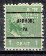 USA Precancel Vorausentwertung Preo, Bureau Pennsylvania, Ardmore 804-61 - Estados Unidos