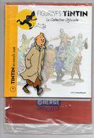 COLLECTION  TINTIN  -    FIGURINE EN TRENCH COAT    +    LIVRE - Tintin