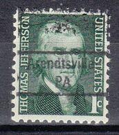USA Precancel Vorausentwertung Preo, Locals Pennsylvania, Arentville 843 - Estados Unidos