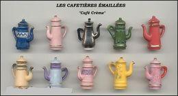 Fèves Série Complète - Cafetières émaillées - 2006 - Charms