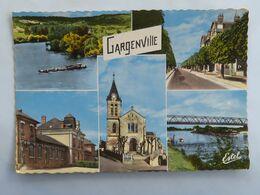 C. P. A. : 78 Souvenir De GARGENVILLE, 5 Vues, Timbre En 1975 - Gargenville