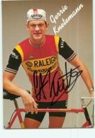 Gerrie KNETEMANN , Autographe Manuscrit, Dédicace . 2 Scans. Cyclisme. Raleigh Campagnolo - Wielrennen