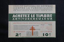 FRANCE - Carnet De 20 Vignettes Contre La Tuberculose - L 65507 - Blocs & Carnets