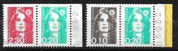 France  Paireq  N° 2614a  Et 2617a Daté  Neufs   * * B/TB= MNH F/VF Adhérence  Soldé  Le Moins Cher Du Site ! ! ! - 1989-96 Marianne (Zweihunderjahrfeier)