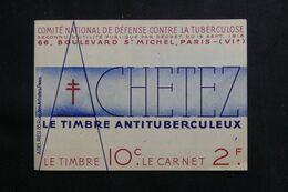 FRANCE - Carnet De 20 Vignettes Contre La Tuberculose - L 65508 - Blocs & Carnets