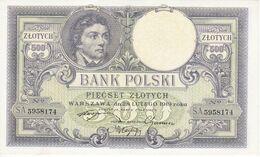 BILLETE DE POLONIA DE 500 ZLOTYCH DEL AÑO 1919 SIN CIRCULAR - UNCIRCULATED (BANKNOTE) - Polonia