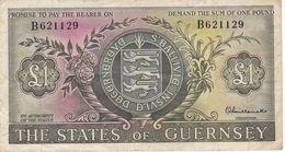 BILLETE DE GUERNSEY DE 1 POUND DEL AÑO 1969  (BANKNOTE) - Guernsey