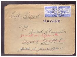 Dt- Reich (020131) Feldpost Brief Mit Inhalt, Gelaufen Und Zurück Stempel 13.4, Handschriftlicher Vermerk Gefallen Für - Briefe U. Dokumente