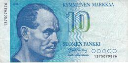 BILLETE DE FINLANDIA DE 10 MARKKAA DEL AÑO 1986  (BANKNOTE) - Finland