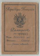 PASSEPORT PREFECTURE DE POLICE TIMBRES FISCAUX 80FR+1000FR+2000FR PARIS 1950 1956 - Fiscaux