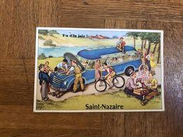 St Nazaire * Carte à Système Ancienne Complète * Autobus Autocar - Saint Nazaire