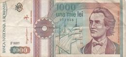 Roumanie Romania : 1000 Lei 1991 Moyen état - Roemenië