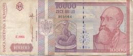 Roumanie Romania : 10000 Lei 1994 Moyen état - Roemenië