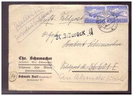 Dt- Reich (020133) Feldpost Brief Mit Inhalt, Gelaufen Und Zurück Stempel 30.3 , Handschriftlicher Vermerk Gefallen Für - Briefe U. Dokumente