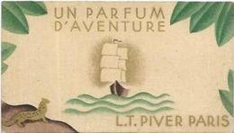 CARTES  PARFUMEES  CALENDRIER AN 1931/32  UN PARFUM D AVENTURE L.T. PIVER PARIS - Cartes Parfumées