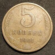 RUSSIE - RUSSIA - 5 KOPECKS 1961 - KM 129a - URSS - USSR - Russland