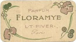 CARTES  PARFUMEES  CALENDRIER AN 1916/17  FLORAMYE L.T. PIVER PARIS - Cartes Parfumées