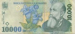 Roumanie Romania : 10000 Lei 1999 Moyen état - Roemenië