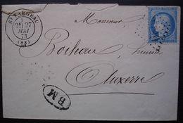 Saint Fargeau 1873 Gc 3589 Boîte Mobile (BM), Lettre Pour Auxerre - 1849-1876: Période Classique