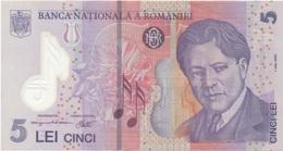 Roumanie Romania : 5 Lei 2005 En Plastique Très Bon état - Roemenië
