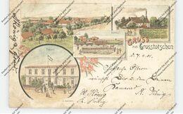 NIEDER-SCHLESIEN - GROSS-TOTSCHEN / TACZOW WIELKI (Trebnitz), Lithographie, Bahnpost, Fabrik, Bahnhof, Postamt - Schlesien