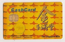 Singapore Old Cash Card Gold Gemplus Chip Used Cashcard - Andere Sammlungen