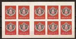 (Fb).Monaco.2000.Carnet Nuovo Di 10 Francobolli.Non Comune (91-20) - Markenheftchen