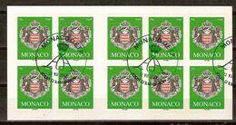 (Fb).Monaco.2005.Carnet Di 10 Francobolli Timbrato Il Primo Giorno Di Emissione.Raro (93-20) - Markenheftchen