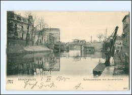 XX10520-147./ Brandenburg Schleusenkanal Mit Annenbrücke 1905 AK - Deutschland