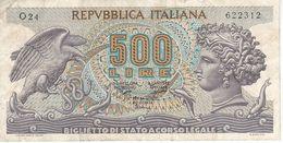 BILLETE DE ITALIA DE 500 LIRAS DEL AÑO 1970 -MEDUSA  (BANKNOTE) - [ 2] 1946-… : Républic