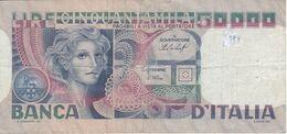 BILLETE DE ITALIA DE 50000 LIRAS DEL AÑO 1977 DE CANFARINI (BANKNOTE) - [ 2] 1946-… : Repubblica