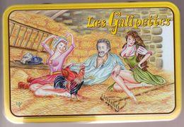 BOITE METAL    LES GALIPETTES -      FILLES DE LA CAMPAGNE SEXY DANS LE FOIN - Other Collections