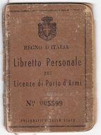 REGNO D'ITALIA - PORTO D'ARMI - MARCA DA BOLLO A. GRAMSCI - ANNO 1946 - Historical Documents