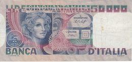 BILLETE DE ITALIA DE 50000 LIRAS DEL AÑO 1978 DE CANFARINI (BANKNOTE) - [ 2] 1946-… : Repubblica