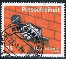 ALLEMAGNE ALEMANIA GERMANY DEUTSCHLAND BUND 2020 FREEDOM OF THE PRESS  USED MI 3515 YT 3299 - Gebruikt