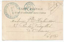 ALGERIE CACHET BLEU EL GOLEA 1902 ALGER CARTE + TROUPES REGION D'IN SALAH - 1877-1920: Periodo Semi Moderno