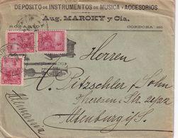 ARGENTINE 1901 LETTRE ILLUSTREE DE ROSARIO POUR ALTENBURG - Briefe U. Dokumente